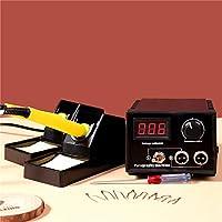 S SMAUTOP Madera Quemandose Kit 60W Máquina de Pirografía Ajustable 220V Herramientas de pirografía profesional Kit Con 2pcs Burner Pen, 20pcs Pyrography Wire Tips Para Grabado y Manualidades