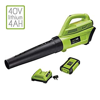 Aerotek 40V Cordless Leaf Blower Series X2, Lithium Ion Battery Pack & Charger Included