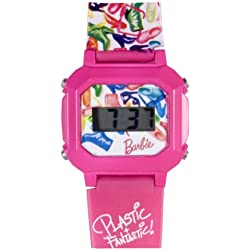 Barbie Girls LCD Watch 25082 With Pink Plastic Pattern Strap