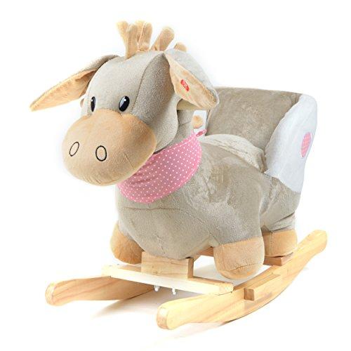 *Pink Papaya Schaukeltier – Esel Pepe – Kinder und Baby Schaukelpferd, spezieller Schaukelstuhl für Kinder, mit Sound, Kopfhöhe ca. 50 cm, Sitzhöhe ca. 30 cm*