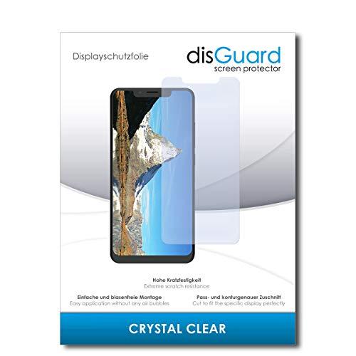 disGuard® Bildschirmschutzfolie [Crystal Clear] kompatibel mit Alcatel 5v [2 Stück] Kristallklar, Transparent, Unsichtbar, Extrem Kratzfest, Anti-Fingerabdruck - Panzerglas Folie, Schutzfolie