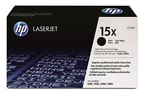 HP 15X (C7115X) Schwarz Original Toner mit hoher Reichweite für HP Laserjet 1000, 1200, 1220, 3330 (Hp Laserjet 3330)