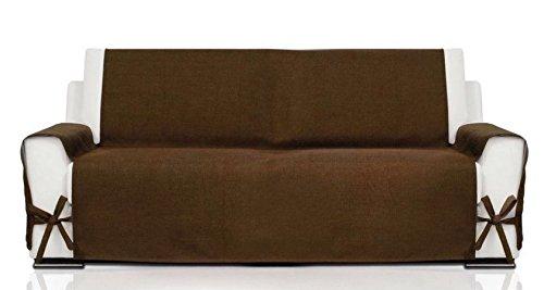 Dettagli su zucchissime soft copridivano coprisedie copri divano sedia poltrona canapone -marrone-3 posti
