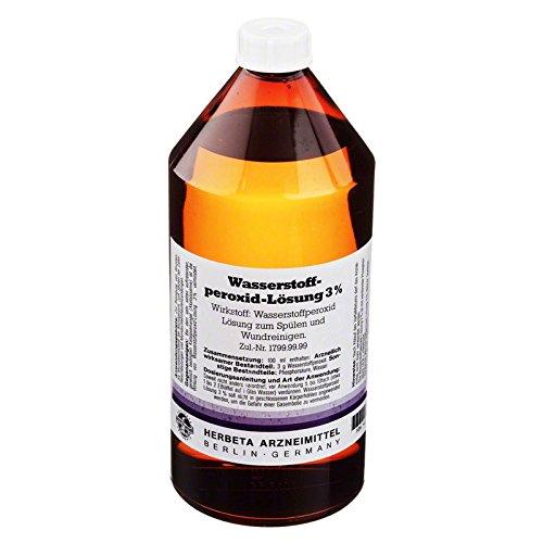 Wasserstoffperoxid Lösung 1000 ml - Gesicht-farbe-pulver