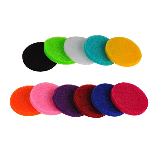 HooAMI Tissu De Coton Pour Pendentif Aromatique Rond -Diffuser Le Parfum Ou Huile Essentielle -11 Pcs