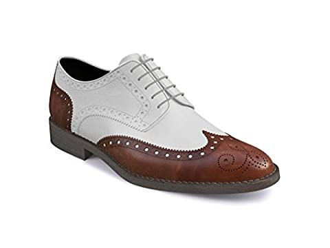 DIS - Monica - Derby Wing Bogue - Man - White Calf Leather Deco - Size 38