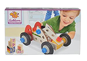 Simba 100039016 Juego de construcción de varios modelos de vehículos juego de construcción - juegos de construcción (Juego de construcción de varios modelos de vehículos, 3 año(s), Negro, Azul, Rojo, Madera, Caja)