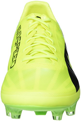 Puma Evospeed 17 SL FG, Chaussures de Football Homme Jaune (Safety Yellow-puma Black-green Gecko 01)