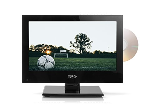 Xoro HTC 1346 33,78 cm (13,3 Zoll) LCD Fernseher (FullHD, Triple Tuner DVB-S2/T2/C, DVD Player, H.265/HEVC, Mediaplayer, USB 2.0, PVR Ready, Timeshift, 12V) - Lcd-tv-tuner-box