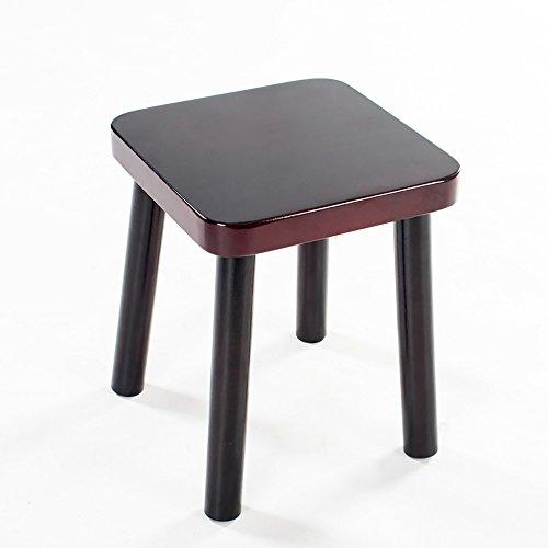 LJHA Tabouret pliable Repose-pieds rétro en bois solide/petit banc/tabouret de sofa de salon/Foyer changent le tabouret de chaussures chaise patchwork (Couleur : A)