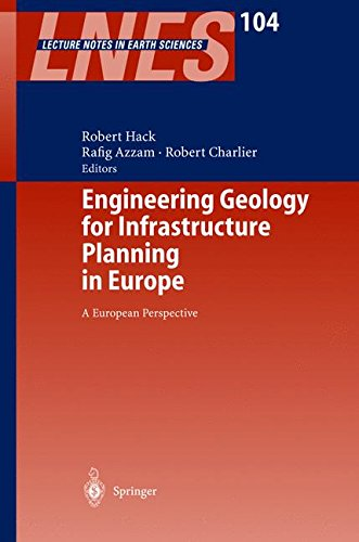 Engineering Geology for Infrastructure Planning in Europe: A European Perspective (Lecture Notes in Earth Sciences)