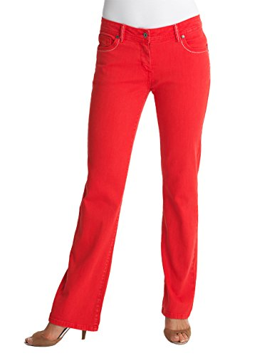 WomensBest Damen Push up Jeans NEW RIO SATTLE Dark Coral
