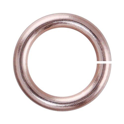 Weave Got Maille Einzelgerät 4mm Rose Gold emailierten Kupfer Jump Ringe-1Unze (Unze 4 Gold 1)