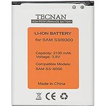 Tecnan batería batería para Samsung Galaxy S3I9300GT-I9300/S3Neo i9301/i9305LTE (sustituye a batería EB-L1G6LLU–Batería de repuesto battery para teléfono móvil Li-ion 2100mAh batería S3Neo con NFC