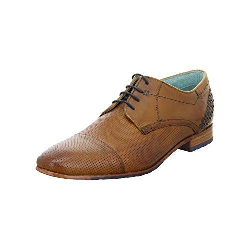 Daniel Hechter  8112420111116341, Chaussures de ville à lacets pour homme 6341 cognac/d. blue