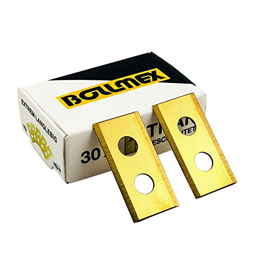 30 Bollmex Cuchillas de titanio 1 mm con 30 tornillos Cuchillas de repuesto compatibles con cortacésped...
