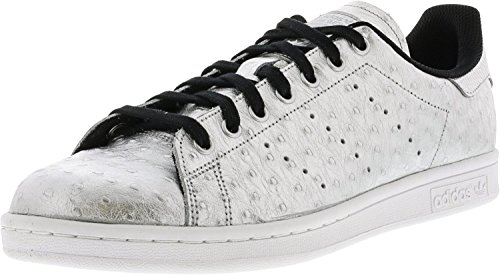 quality design 1dd9f d2ccb adidas Men s Stan Smith Metallic Silver Footwear White Ankle-High Leather  Fashion Sneaker -