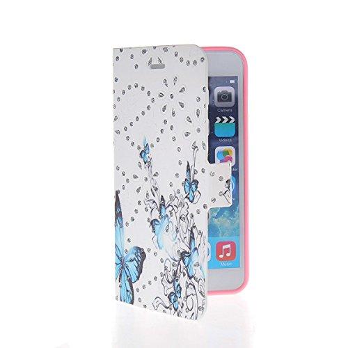 MOONCASE Coque en Cuir Portefeuille Housse de Protection Étui à rabat Case pour Apple iPhone 6 Plus A17788