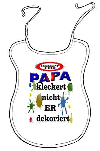 Kleckerlatz Scherz-Latz für Erwachsene Papa Baby-Lätzchen