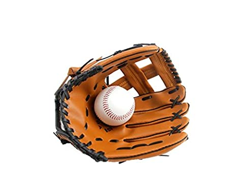 Children Adult Thick Professional Field Pitcher Baseball Gloves Multi-size,Brown-11.5Inch