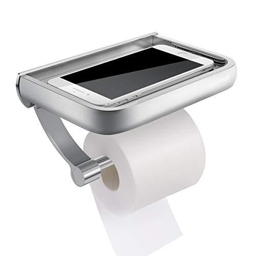 Toilettenpapierhalter, Homemaxs Premium Aluminium Papierrollenhalter  Klopapierhalter Mit Ablage Für