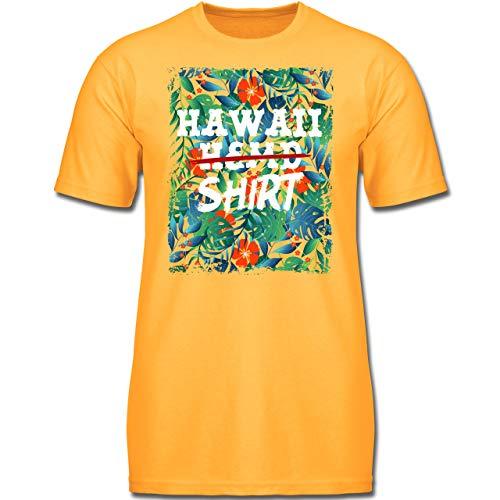 Karneval & Fasching Kinder - Hawaii Hemd Shirt - 152 (12-13 Jahre) - Gelb - F130K - Jungen Kinder T-Shirt