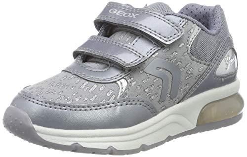 Geox J SPACECLUB Girl B, Zapatillas para Niñas, Gris DK Grey C9002, 36 EU