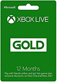 Xbox Live 12 Month Gold Membership Card (Xbox 360 & Xbox One) (Xbox