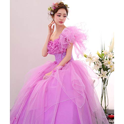 QAQBDBCKL Licht Lila Rüschen/Fürsten Kleid Mittelalterlichen Kleid Renaissance-Kleid Königin Viktorianischen Gothic/Marie Antoinette/Belle Ball
