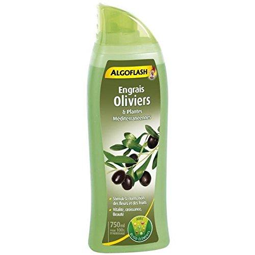 ALGOFLASH ALIMED750 Engrais Oliviers et Plantes Méditerranéennes, Vert, 750 ml