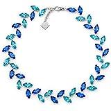 Rebollo Artigiani Partenopei - Collana Sofia in cristalli Swarovski, Colore Blu