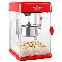 Klarstein Rockkorn • máquina de palomitas de maíz • retro • palomitero • 350 W • extraíble • iluminación interior • aprox. 60 l/h • puerta con cerradura ...