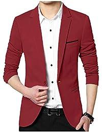 SWISSWELL Vestito Casual Business da Uomo in Poliestere Slim Fit Uomo  Button Elegante Vestito di Affari Cappotto… 6e350428c36