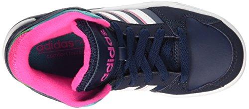 adidas Bb9Tis Mid K, Chaussures pour Le Basketball Fille, Multicolore Multicolore (Conavy/Ftwwht/Shogrn)