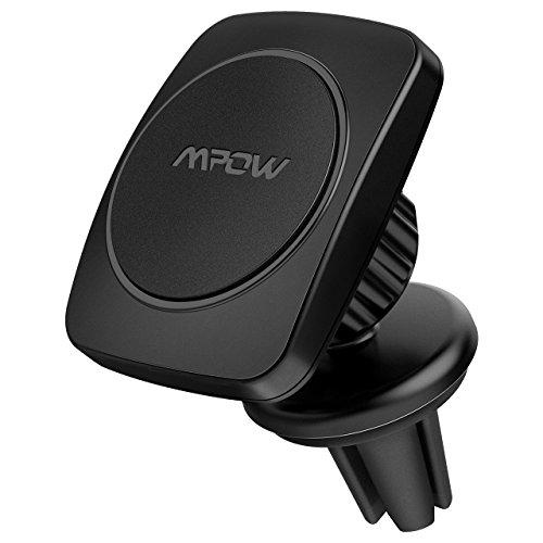 Mount 6 Iphone Vent (Mpow Universal KFZ Lüftungsschlitz Magnetische 360 Grad Halterung Halter in Auto für iPhone 6S/6 Plus/5S/5C, Galaxy Note 4/ 3, S6/ S6 Edge/ 5/ 4)