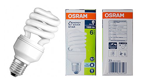 OSRAM DULUXSTAR Mini Twist Energiesparlampen, - 6500K, Cool Daylight/ E27 23W