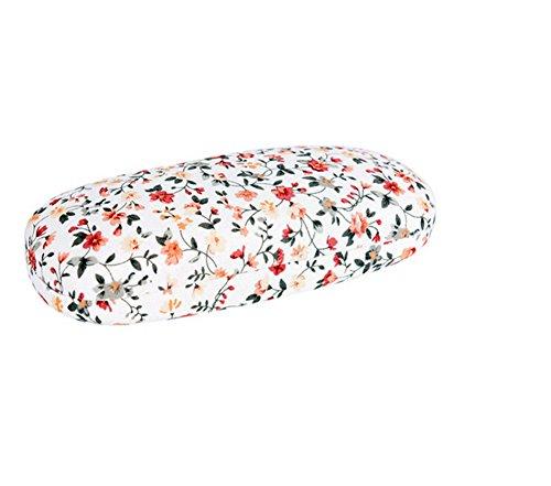 Demarkt 1 Pcs Boîte Étui à Lunettes Coton Boîte de Rangement Portable Peut être Plié Boîte de Protection de Lunettes de Soleil Boîtier Housse Antichoc (Blanc) 16.5 * 6.5 * 3.5cm