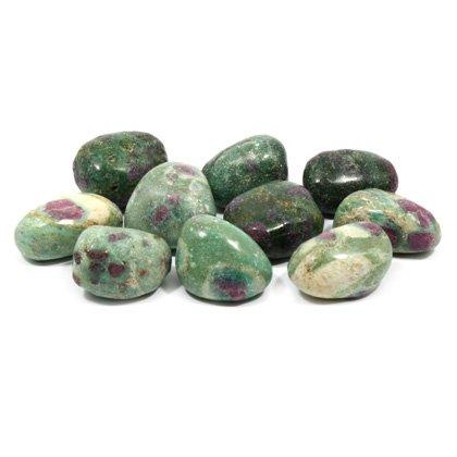 CrystalAge - Cantos rodados de fucsita con rubí, muy grade (20 a 25 mm)