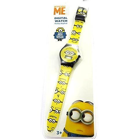 Digital wrist watch 'Minions'black yellow.