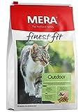 MERA finest fit Outdoor Katzenfutter – Weizenfreies Trockenfutter mit frischem Geflügel und Reis für die bedarfsgerechte Ernährung von Outdoor-Katzen