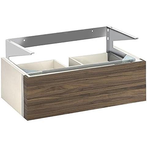 La parte inferior de la lavabo Keuco Edition 300 30384, 2 secciones delantera, blanco/chapa de roble, 30384389000