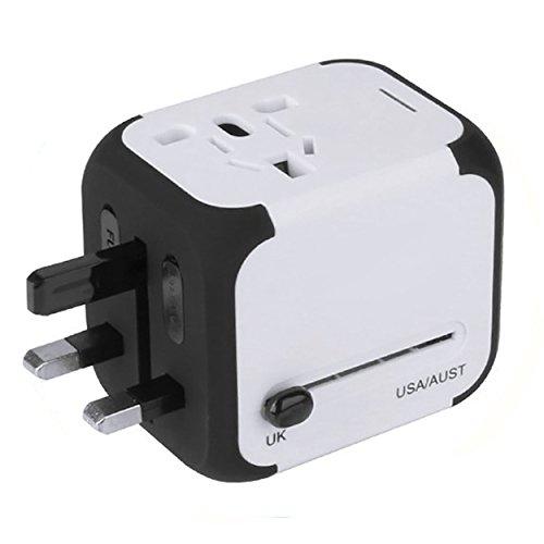 yardsky Reise Adapter, Stecker-Konverter Multifunktions-, mit 2Konverter USB-Ladekabel für EU/UK/US/AU/CN (Konverter-sicherung)