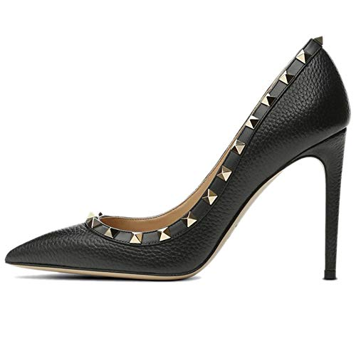 Caitlin Pan Damen Formal Spitz-Pumps High Heel Stilettos Sexy Schlüpfen Sie auf Pumps