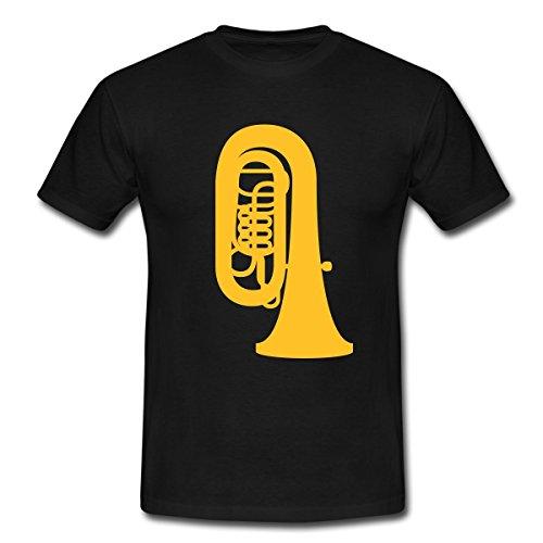 Spreadshirt Tuba Männer T-Shirt, XL, Schwarz