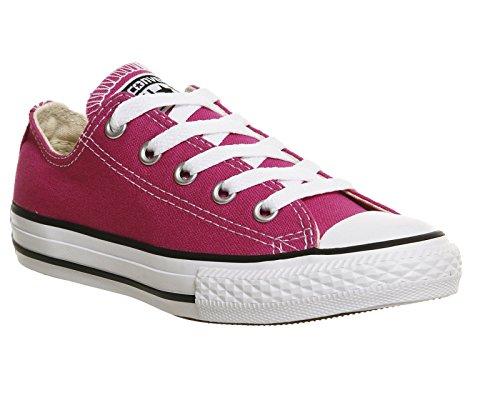 Converse Chuck Taylor All Star Core Ox, Unisexe, Bébé Sur Toile - Rose - Plastic Pink, 31.5 EU