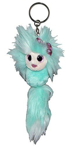 Unbekannt Schlüsselanhänger Ayumi be You  Fun Tanoshimi  16 cm - türkis blau Plüschtier Anhänger - Schlenker Puppe Schlenkerbeine - Gothik kleine Fee - japanisch Spaß..