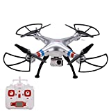 Arshiner SYMA X8G RC Drone FPV Quadcopter RTF 4CH 6 Achsen-Gyro 2.4GHz Headless Modus mit 8MP HD-Kamera