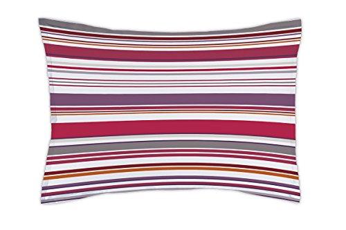 Matt&Rose Nuit Graphique Taie d'Oreiller Coton Taupe/Blanc 70 X 50 cm