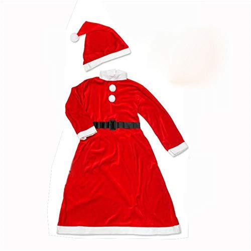 Lxj Santa Claus Kostüm Kleid Weihnachten Kinder Kostüme Zeigen Mädchen 4-6 Jahre alt (Für Claus Kleider Mädchen Santa)
