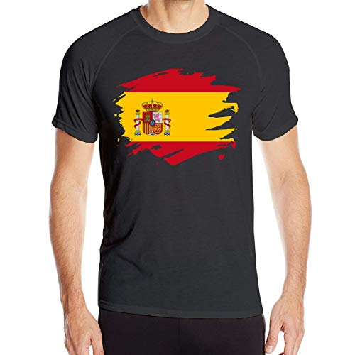 Camisetas Manga Corta Hombre Bandera Salpicaduras